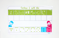 Flexi magnetic tab with pictograms - Daily Routines schedule