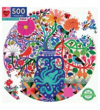 Birds and Flowers 500 Piece Puzzle