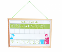 Magnetic tab Today I will do with pictograms - Daily Routines Schedule