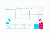 Flexi Magnetic tab without pictograms - Daily Routines schedule