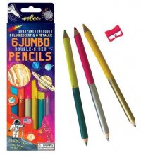 Jumbo Double-Sided Pencils Space 6 pcs
